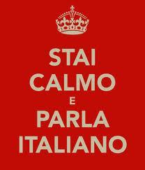 stay calm speak italian